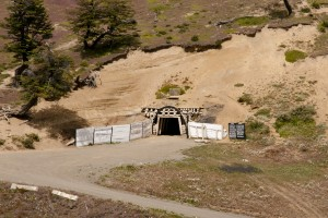 A mine entrance in Argentina.