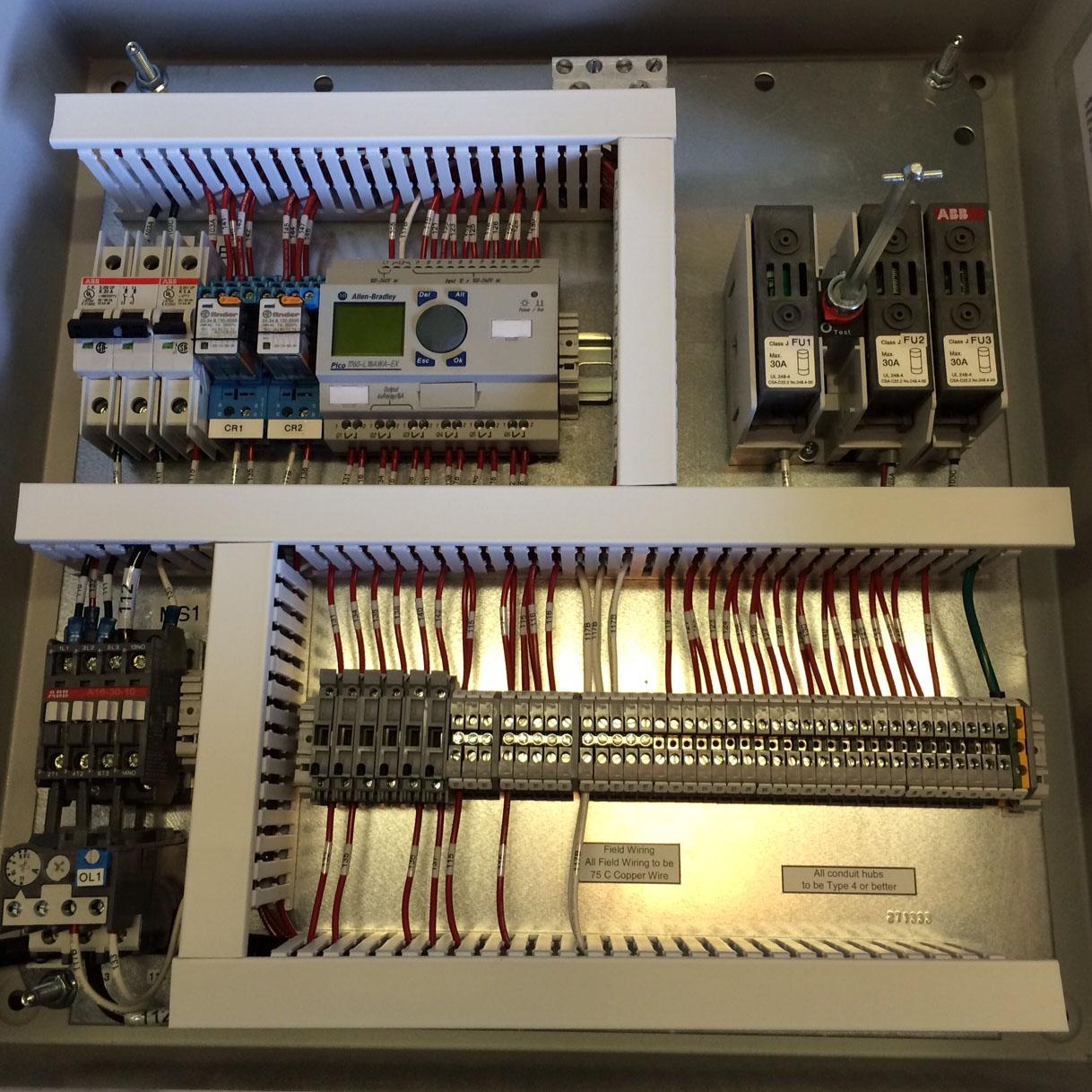door control plc photo eye cap lamp hoffman manufacturing rh hoffman mfg com control panel door wiring Electrical Control Panels