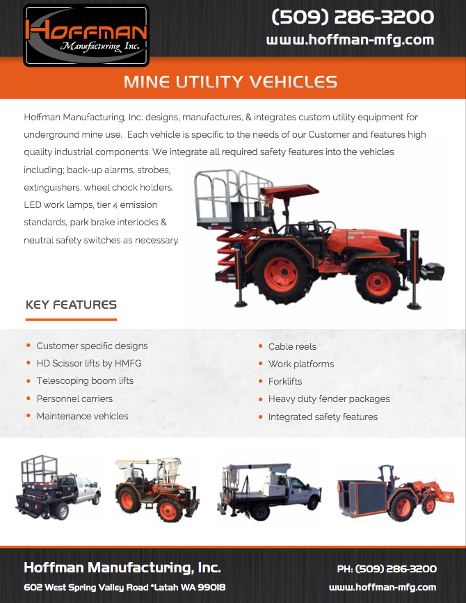 Mine Utility Vehicles